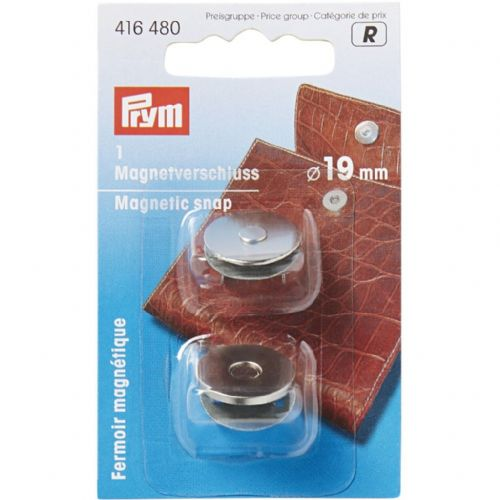 Magnetic Snap 19mm Silver